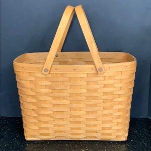 Longaberger Classic Magazine Swing Handle Basket